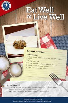 Delicious No-Bake Cookie Recipe! #healthy #nobakecookies