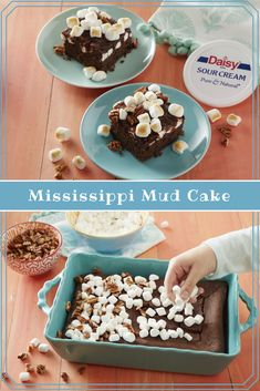 This Mississippi Mud Cake is a delicious treat the kids can help make, and one that will leave you sneaking an extra bite! Sweet Recipes, Cake Recipes, Dessert Recipes, Healthy Pizza Recipes, Cooking Recipes, Cake Recipe With Sour Cream, Mississippi Mud Cake, Cake Candy, Daisy Sour Cream