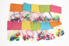 DIY Beaded Bracelet Craft Kits for Kids (10) / Ocean Theme / Party Craft / Favors / Play Date Activity