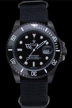 Rolex Submariner Black Nylon Strap 622006