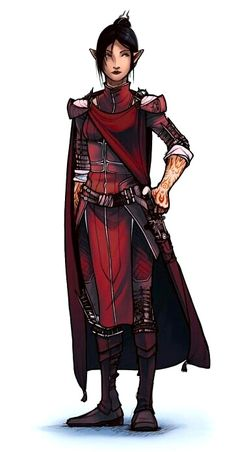 Female Elf Swashbuckler - Pathfinder PFRPG DND D&D d20 fantasy