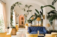 The iconic Italian hotel hosts an annual writer's conference, and boasts a growing collection of commissioned modern art.