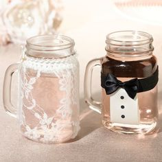 Bride and Groom Drink Glass Covers Transform glasses into charming table decorations with these bride and groom glass covers. These lace glass covers fit a standard 1 pint glass and come as a set of 2 (bride and groom). Bride And Groom Glasses, Wedding Gifts For Bride And Groom, Bride Gifts, Bride Groom, Wedding Bride, Wedding Day, Trendy Wedding, Car Themed Wedding, Jazz Wedding