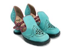 Raspberry Heels: Fluevog   Minis   Boo Boo [Aqua+Berry]