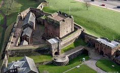 Aerial photo of Carlisle Castle by Jonathan Webb. PBGGF Robert Bruce was Constable here in the Carlisle Castle, Carlisle Cumbria, English Castles, Mary Queen Of Scots, Scotland Castles, Rural Area, Lake District, Cathedrals, House In The Woods