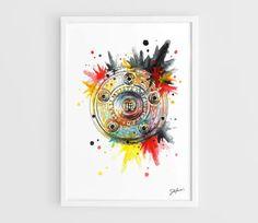 Bayern Munich deutscher Meister Bundesliga  A3 Art by NazarArt, $15.00
