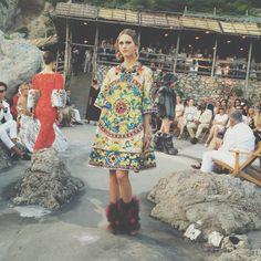 Dolce & Gabbana Alta Moda Fall/Winter 2015 couture show in Capri