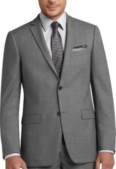 Tallia Black and White Birdseye Slim Fit Suit | Men's Wearhouse
