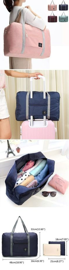 ee7ce2881423 US 9.99 Women Men Folding Waterproof Luggage Bags Unisex Fitness Bag  Outdoor Travel Bags Packing Tips