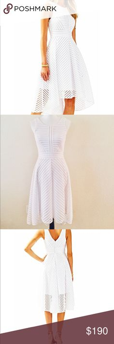 "eed110c456ae1 NWT Lily Pulitzer ""Tilley"" White Midi Dress NWT Lily Pulitzer ""Tilly"" White"