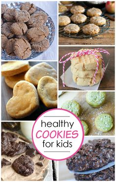 Healthy Cookies!! Some of these even sneak in extra goodness like sweet potatoes and avocados. Shh, don't tell them!