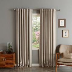 Shop for Aurora Home Solid Insulated Thermal Blackout Curtain Panel Pair. Get free delivery On EVERYTHING* Overstock - Your Online Home Decor Outlet Store! Bedroom Drapes, Ikea Curtains, Panel Curtains, Curtain Panels, Window Panels, Master Bedroom, Bedrooms, Drapes And Blinds, Blackout Curtains
