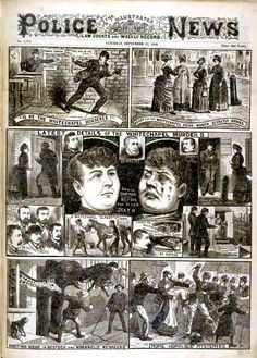 Newspaper report on the Whitechapel murderer aka Jack the Ripper, 1888