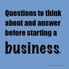 Food related business tips...Great questions to consider.  #Business