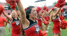 Football is back! That can only mean one thing: It's time for us tolook at our favorite cheerleaders from week 1 of the college football season. They can cheer for us anytime!