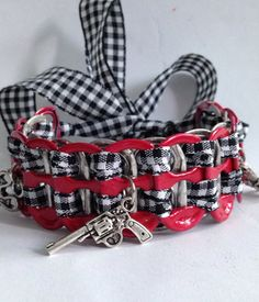 """Free Stuff: """"I Run With Weapons"""" Pop Tab Bracelet BRAND NEW Charms Red Tabs - Listia.com Auctions for Free Stuff"""