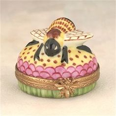 Limoges Bee Round Box The Cottage Shop