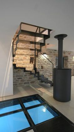 Unique stairs stairways architecture ideas for 2019 Interior Stairs, Interior Design Living Room, Interior Architecture, Casa Loft, Mini Loft, Glass Floor, Interior Garden, Gothic House, Staircase Design