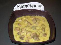 poivre, lait de coco, oignon, huile d'olive, citron vert, curry, coriandre, sel, thon