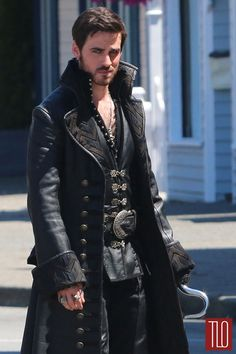 """I haven't watched """"Once Upon A Time"""" in ages...but Captain Hook?  Oh, yeah...   Colin-ODonoghue-Once-Upon-A-Time-Set-TV-Show-Costumes-Tom-Lorenzo-Site-TLO (3)"""