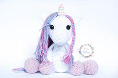 unicorn plush toy, stuffed unicorn, white unicorn, gift for girls, baby gift, birthday gift, fantasy nursery decor, toy for girl, unicorn, Toys For Girls, Gifts For Girls, Stuffed Unicorn, Crochet Baby Toys, White Unicorn, Nursery Decor, Baby Gifts, Hello Kitty, Birthday Gifts