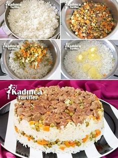 Easy Maklube Recipe, How To … – Feminine Recipes – Delicious, Practical and Most Exquisite Recipes Site - Obst Easy Cake Recipes, Meat Recipes, Dessert Recipes, Cooking Recipes, Turkish Recipes, Ethnic Recipes, Ramadan Recipes, Tasty, Yummy Food