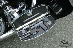 Perfect hiding place for a gun on your motor cycle