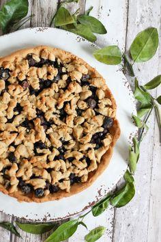 blueberry streusel pie  Blaubeer-Streusel-Pie.