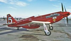 Red Baron Racer, not just a Mustang anymore. Ww2 Aircraft, Fighter Aircraft, Military Aircraft, Air Fighter, Fighter Jets, Reno Air Races, P51 Mustang, Aircraft Design, Landing