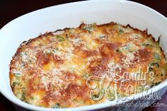 Sandy's Kitchen: Broccoli Cheese Casserole, with chicken variation