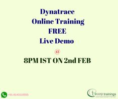 Best Institute for learn DynaTrace Performance Monitoring Tool Online Training in Hyderabad India. Ecorptrainings provides excellent Classroom training for DynaTrace Performance Monitoring Tool Training Course . we are providing Corporate training worldwide in USA, UK, Canada, Dubai, Australia and India. For more details contact Ecorptrainings.com