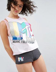ASOS x MTV Vest & Short Pyjama Set