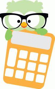 Silhouette Design Store - View Design #90562: owl with calculator