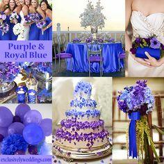 Purple and Royal Blue Wedding Colors | blog.exclusivelyweddings.com