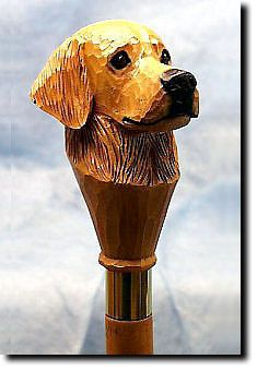 Golden Retriever Dog Walking Stick Our unique selection of handpainted Dog Breed Walking Sticks is sure to please the most discriminating Dog Lover! Be the envy of everyone with this unique canine wal