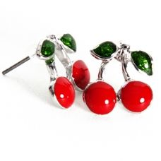Cherry Earrings, Rockabilly Earrings