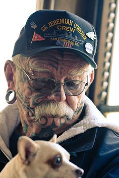 """""""What are you going to do with all those tattoos and those big ears when you get old?"""" BE AWESOME LIKE THIS GUY THATS WHAT"""