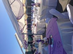 Purple and gold masquerade theme party