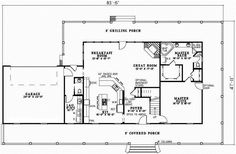 Country Style House Plans - 2851 Square Foot Home , 2 Story, 3 Bedroom and 2 Bath, 2 Garage Stalls by Monster House Plans - Plan 12-599  I LOVE this floor plan! No formal dining room, lots of space and the layout is perfect. They could even make it a little smaller. The home theater could be used as a guest/computer/play room.