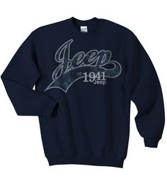 All Things Jeep - Jeep Crewneck Sweatshirt, Navy, with Collegiate Logo, Adult Jeep Sweatshirt, Earl Sweatshirt, Sweater Shirt, Crew Neck Sweatshirt, Graphic Sweatshirt, Jeep Shirts, Hipster Outfits, Cute Outfits, Lazy Outfits