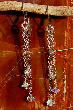 Artisan Jewelry Swarovski Crystal Handcrafted Artisan by ljmoreau