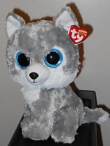 Warrior the Wolf. Halloween Beanie Boos, Ty Beanie Boos, Beanie Babies, Ty Stuffed Animals, Stuffed Toys, Wolf Plush, Stone Art Painting, Wolf Character, Ty Toys