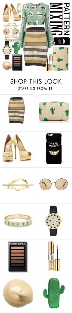 Untitled #80 by roch-macarena on Polyvore featuring ADRIANA DEGREAS, Balmain, Casadei, Kayu, Kate Spade, Michael Kors, Elizabeth and James, Yves Saint Laurent and Forever 21