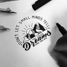 No permitas que las mentes pequeñas te digan que tus sueños son demasiado grandes  . . . . . . ___ Repost rePLANOLY @designspiration . Inspiring work by @emladjei . Sent via @planoly . . #bloggingtips #marketingdigital #motivacion #instagrammer #blogger #creativa #buenosaires #inspiracion #objetivos #blog #bloggerspain #argentina #bloguera #branding #bloggerlife #blogging #instagood #negociosonline #desarrollopersonal #negocios #emprendedoras #emprendedores #emprendimiento #emprender…