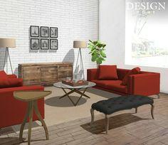 Design Scheme for a Contemporary Living Area