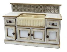 I love the look of this kitchen cabinet and sink but it is a 1:24 scale, too small for my doll house