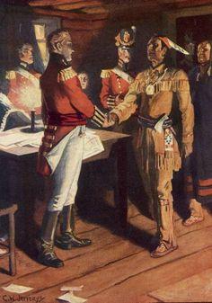 General Brock and Chief Tecumseh - Fort Malden 1812