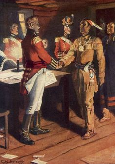 General Brock and Chief Tecumseh - Fort Malden 1812