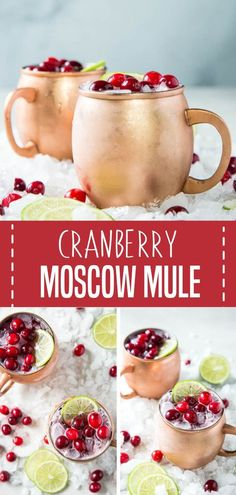 Five Approaches To Economize Transforming Your Kitchen Area The Perfect Drink For Holiday Entertaining, This Cranberry Moscow Mule Is A Festive Cocktail That Will Be Enjoyed By Guests And Family The Cranberry Flavor Pairs Well With The Fresh Lime And Tart Dinner Party Recipes, Winter Dinner Recipes, Holiday Dinner, Dinner Parties, Cocktail Recipes, Drink Recipes, Fresh Lime, The Fresh, Raspberry Cocktail