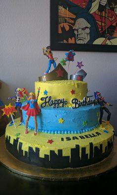 DC Superhero Girl Cake Birthday Party Snacks Themes